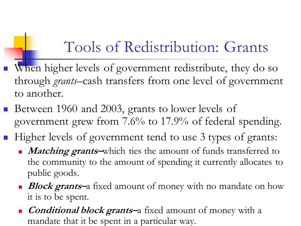 Tools of Redistribution: Grants