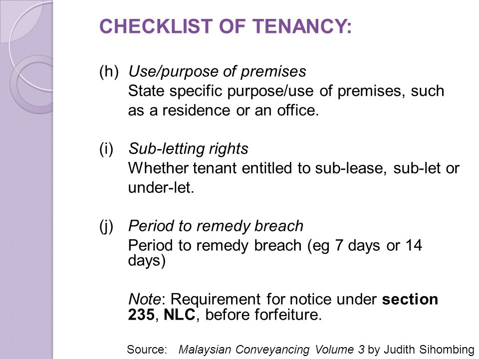 Issues In Tenancy Matters In Malaysia Ppt Download