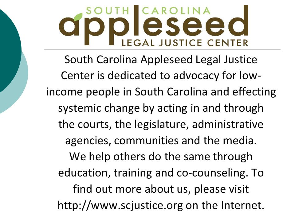 South Carolina Appleseed Legal Justice