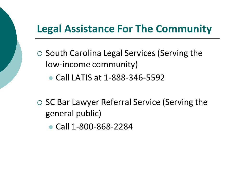 Legal Assistance For The Community