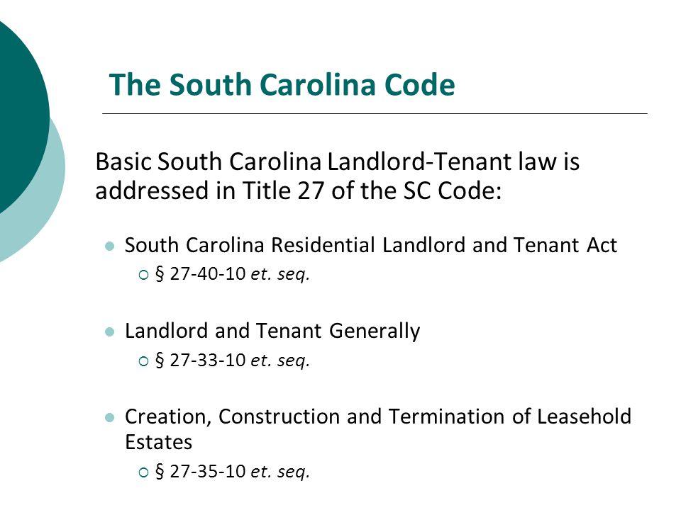 The South Carolina Code