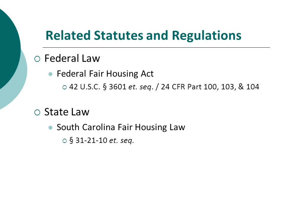 Related Statutes and Regulations