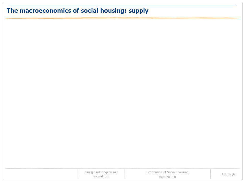 The macroeconomics of social housing: supply