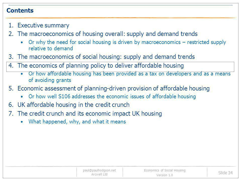 Economics of Social Housing