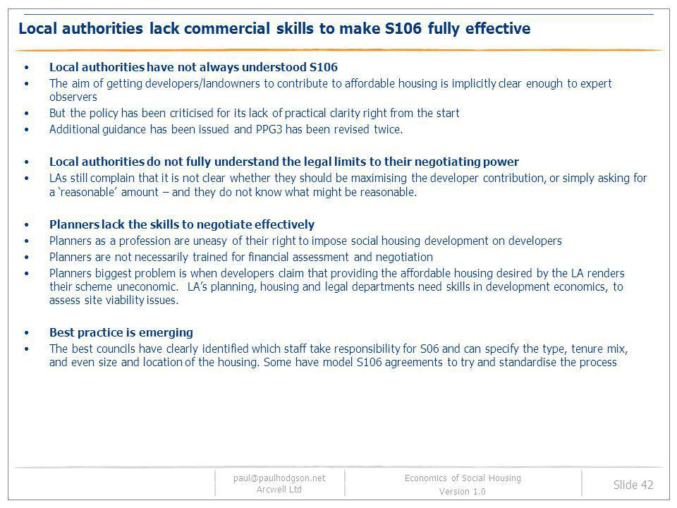 Local authorities lack commercial skills to make S106 fully effective