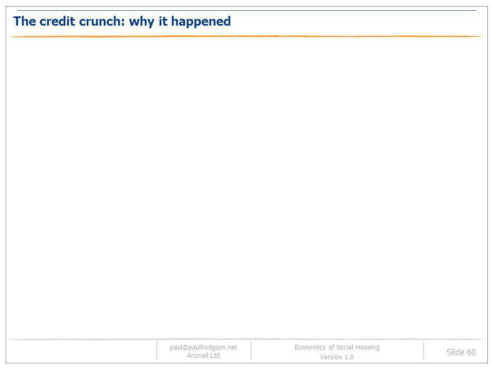 The credit crunch: why it happened