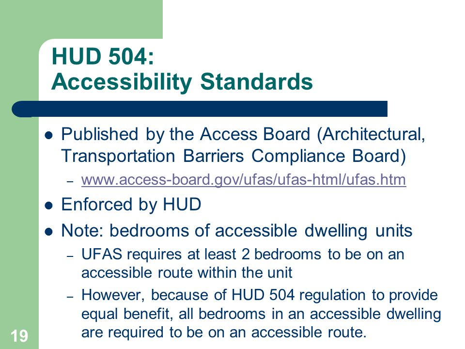 HUD 504: Accessibility Standards