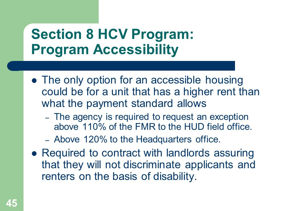 Section 8 HCV Program: Program Accessibility