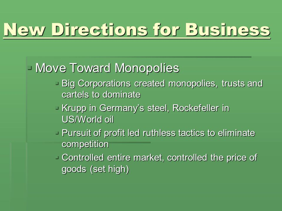 New Directions for Business