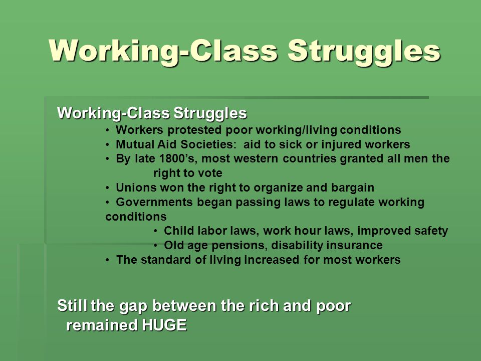 Working-Class Struggles