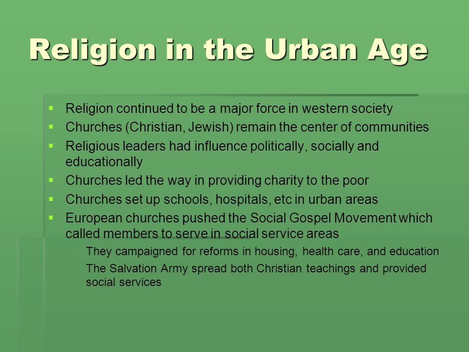 Religion in the Urban Age