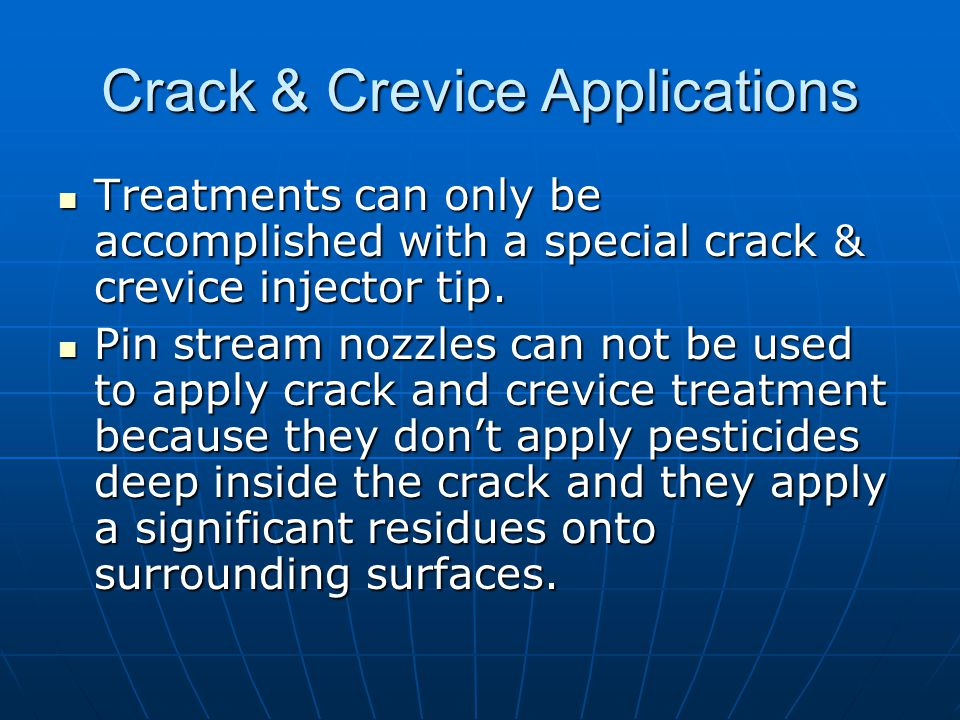 Crack & Crevice Applications