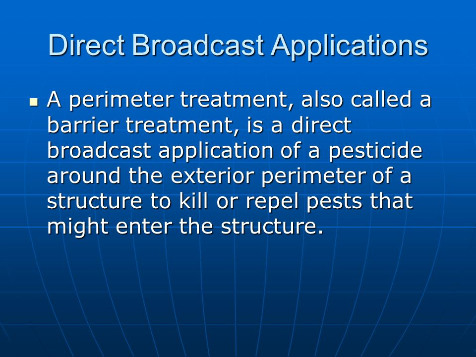 Direct Broadcast Applications