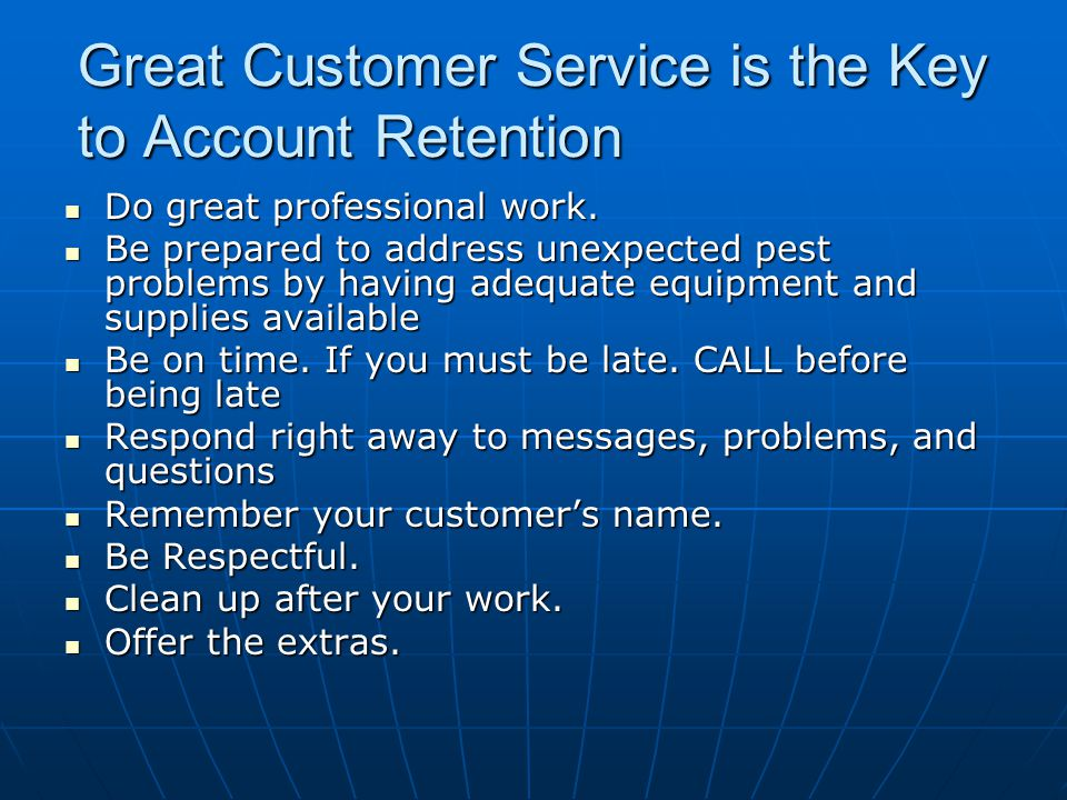 Great Customer Service is the Key to Account Retention