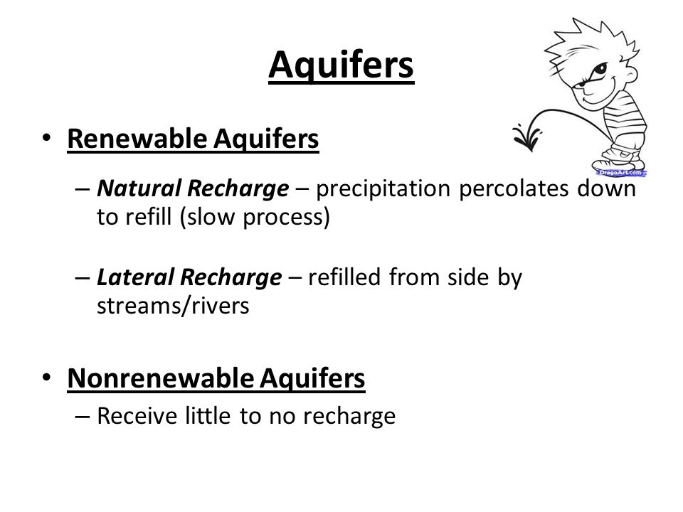 Aquifers Renewable Aquifers Nonrenewable Aquifers