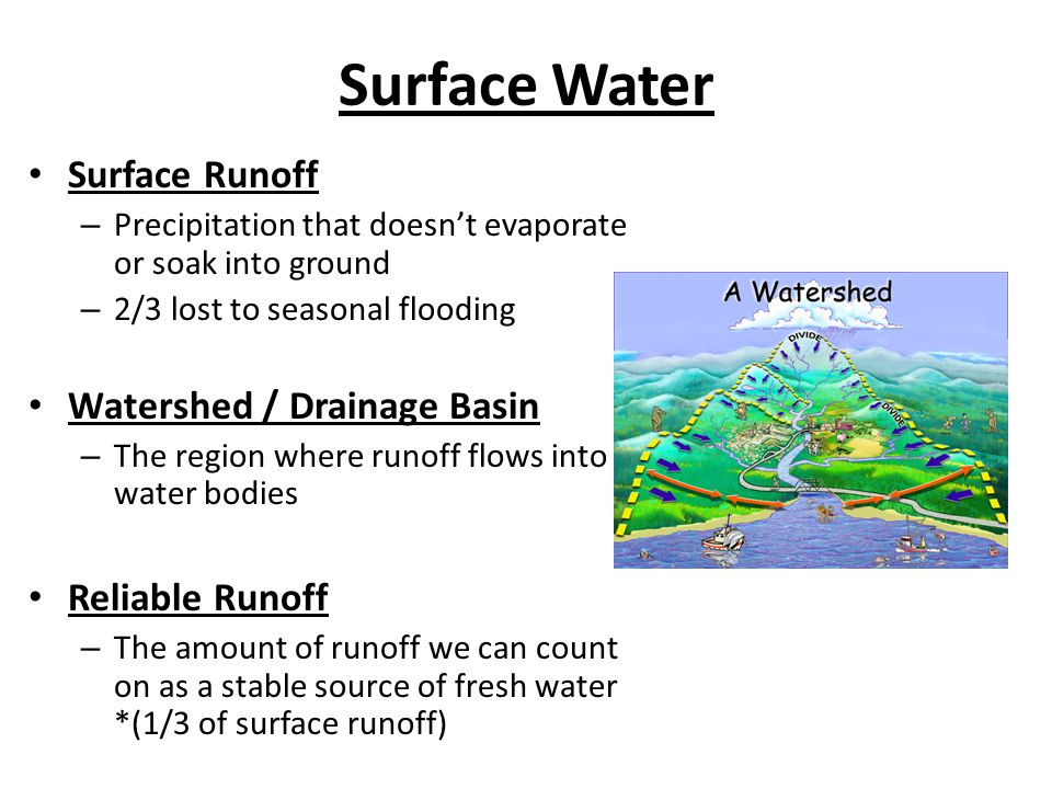 Surface Water Surface Runoff Watershed / Drainage Basin