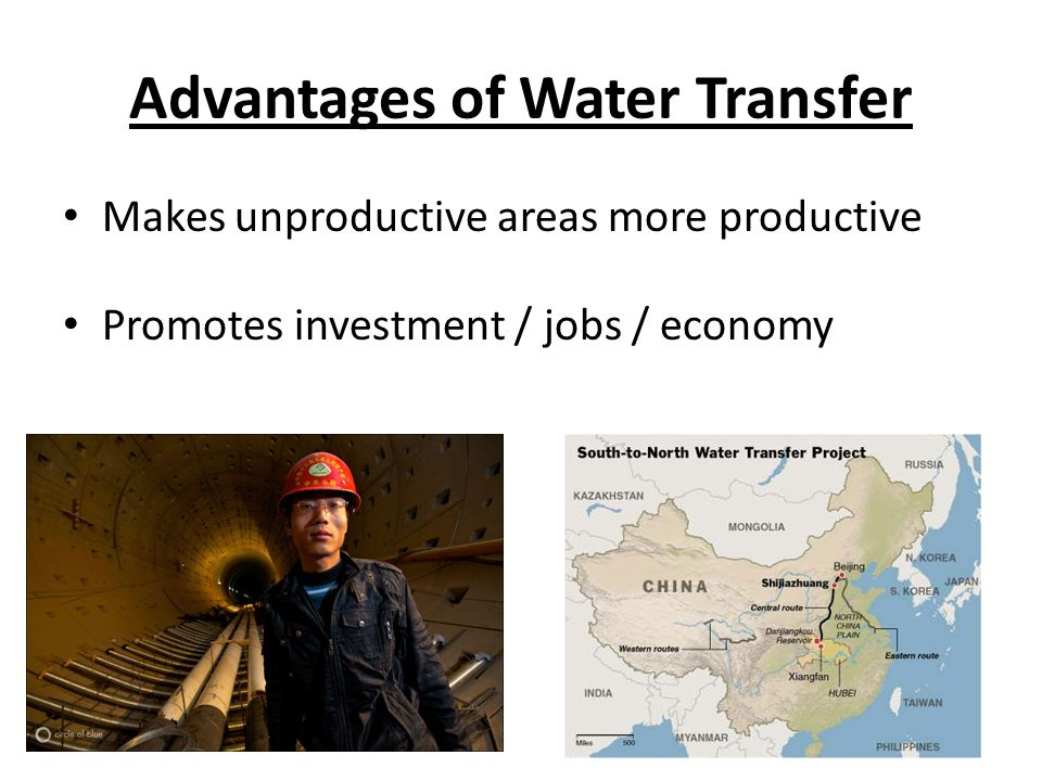 Advantages of Water Transfer