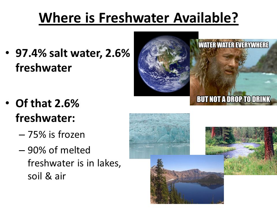 Where is Freshwater Available