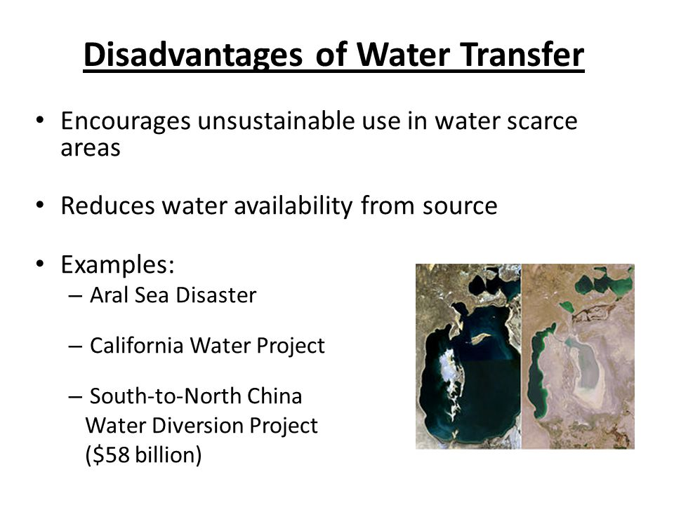 Disadvantages of Water Transfer