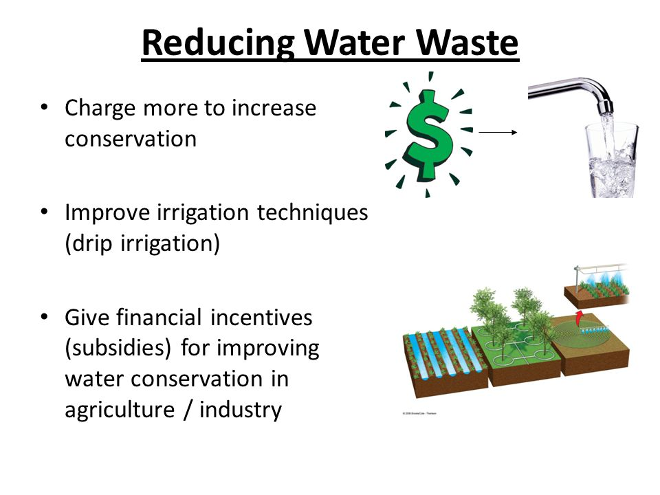 Reducing Water Waste Charge more to increase conservation
