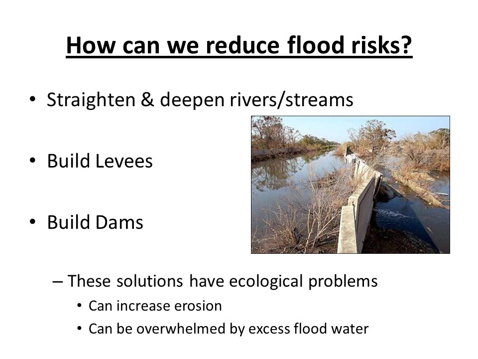 How can we reduce flood risks