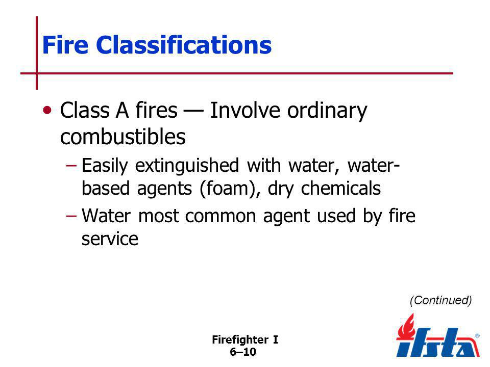 Fire Classifications Class B fires — Involve flammable/ combustible liquids, gases, greases.