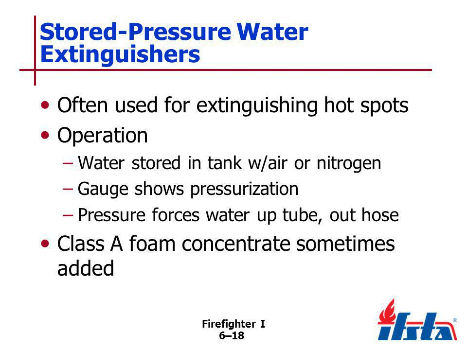 Water-Mist Stored-Pressure Extinguishers