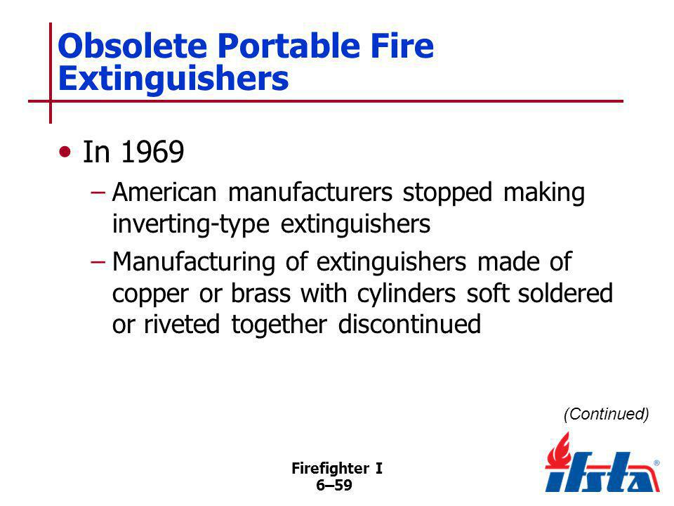 Obsolete Portable Fire Extinguishers