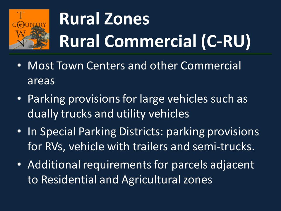 Rural Commercial (C-RU)