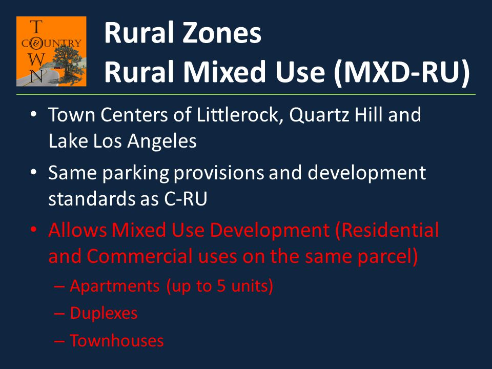Rural Mixed Use (MXD-RU)