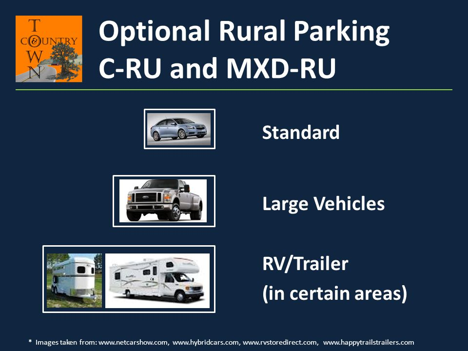 Optional Rural Parking C-RU and MXD-RU