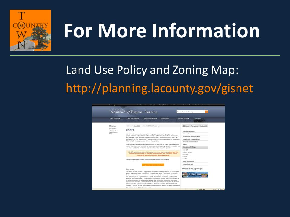 Land Use Policy and Zoning Map: http://planning.lacounty.gov/gisnet