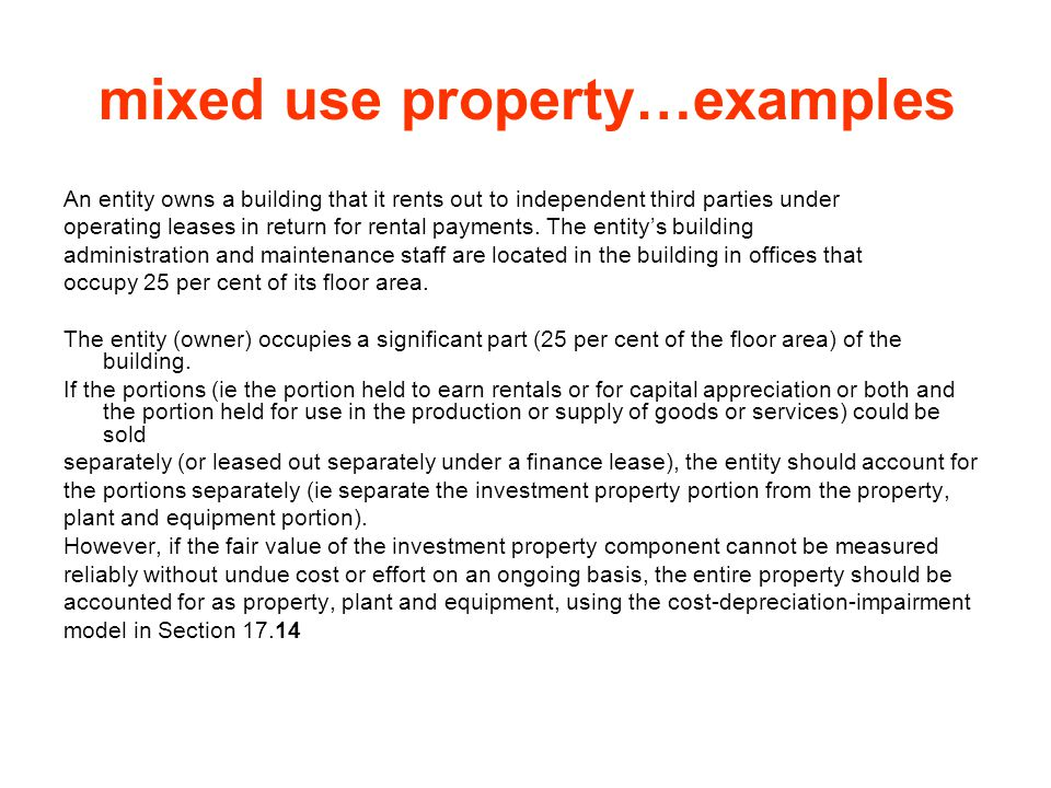 mixed use property…examples