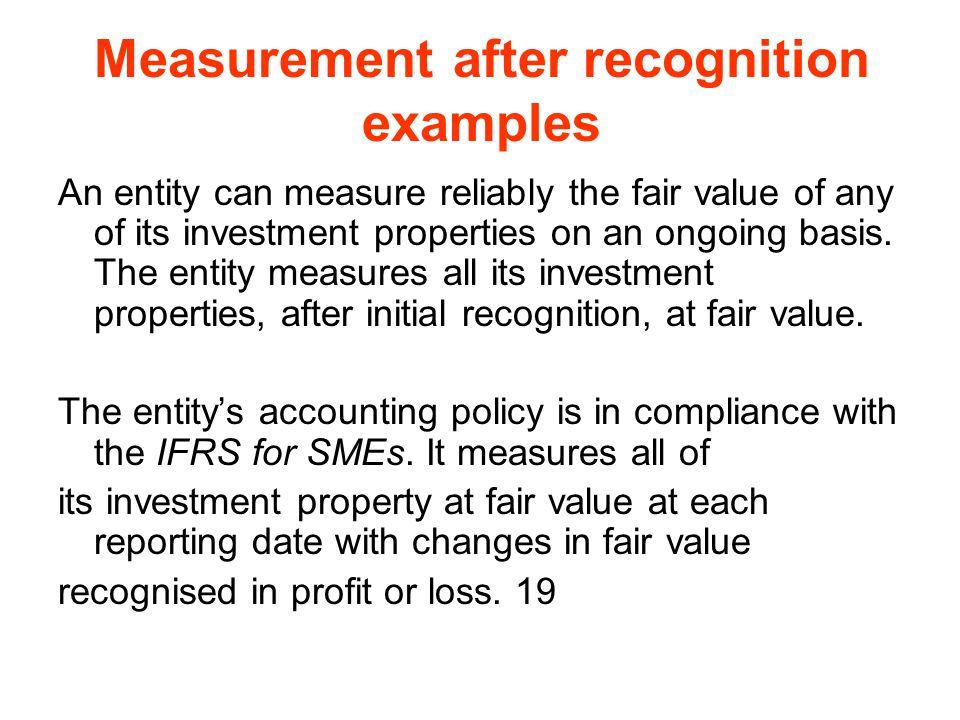 Measurement after recognition examples