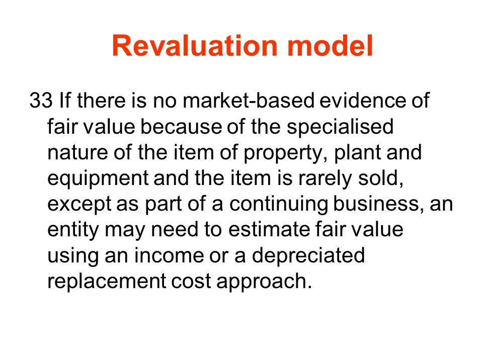 Revaluation model