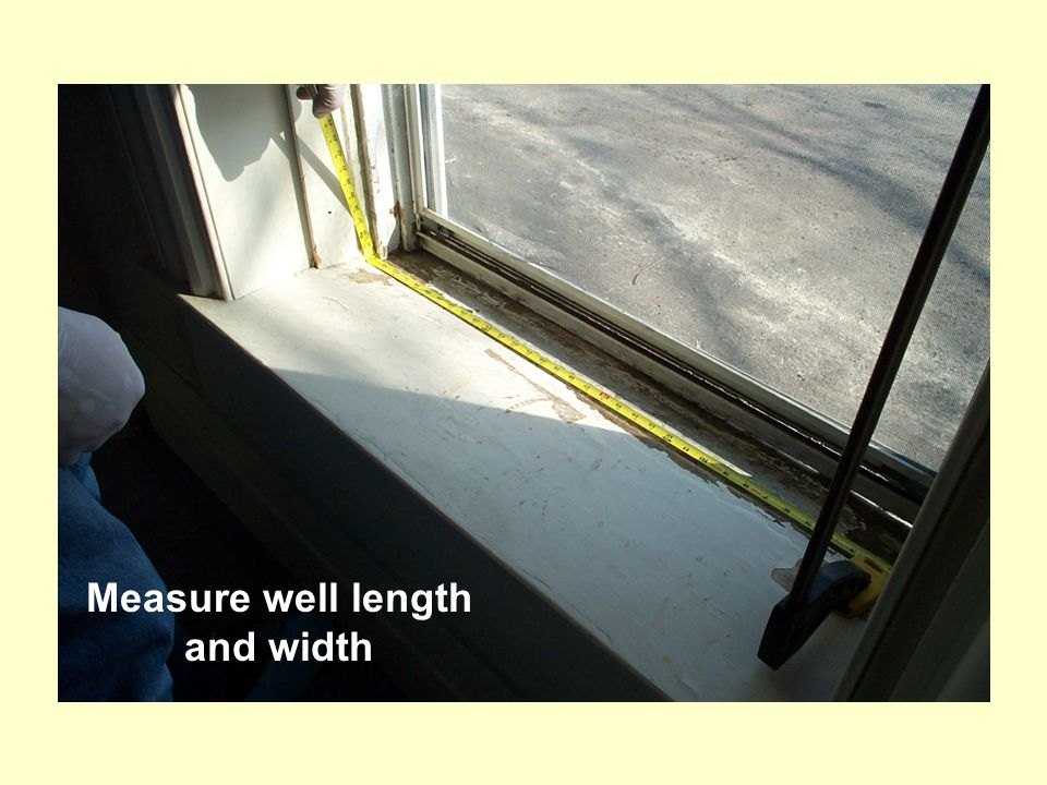 Measure well length and width