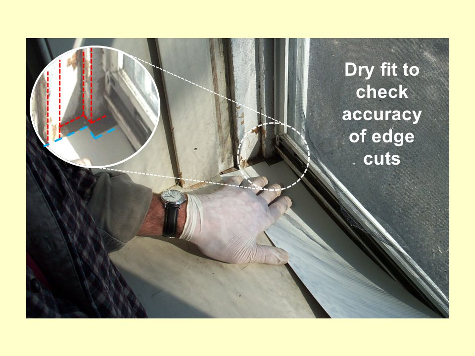 Dry fit to check accuracy of edge cuts