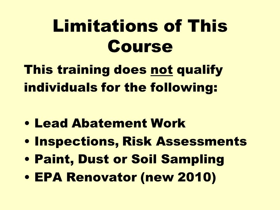 Limitations of This Course