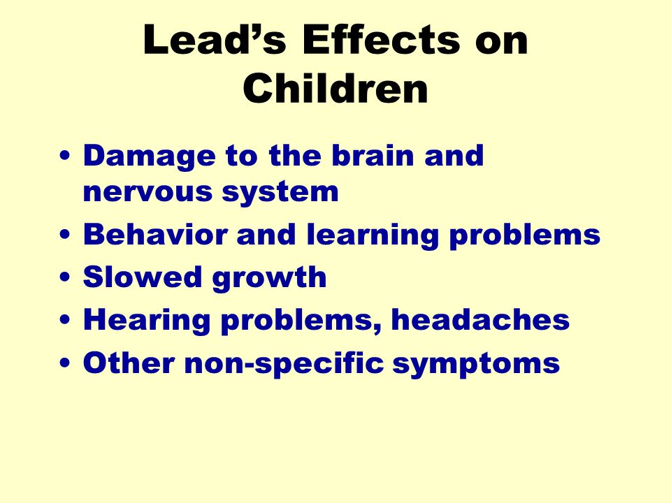 Lead's Effects on Children