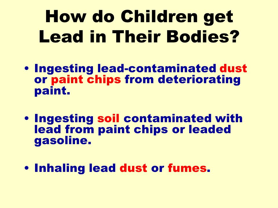 How do Children get Lead in Their Bodies