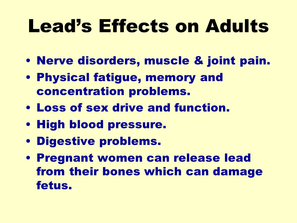 Lead's Effects on Adults
