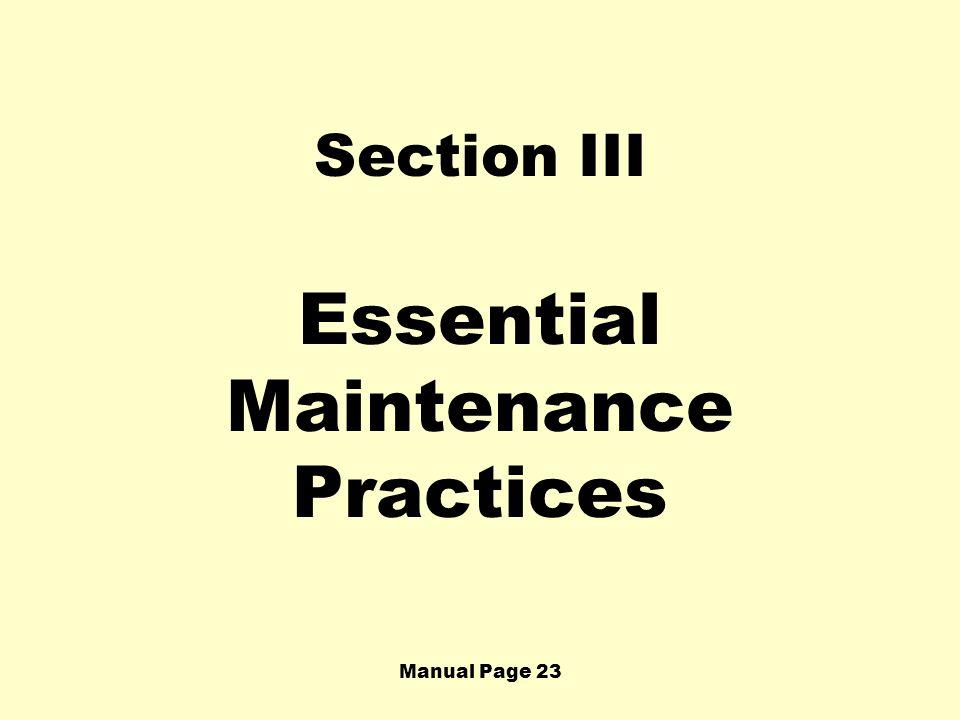 Essential Maintenance Practices