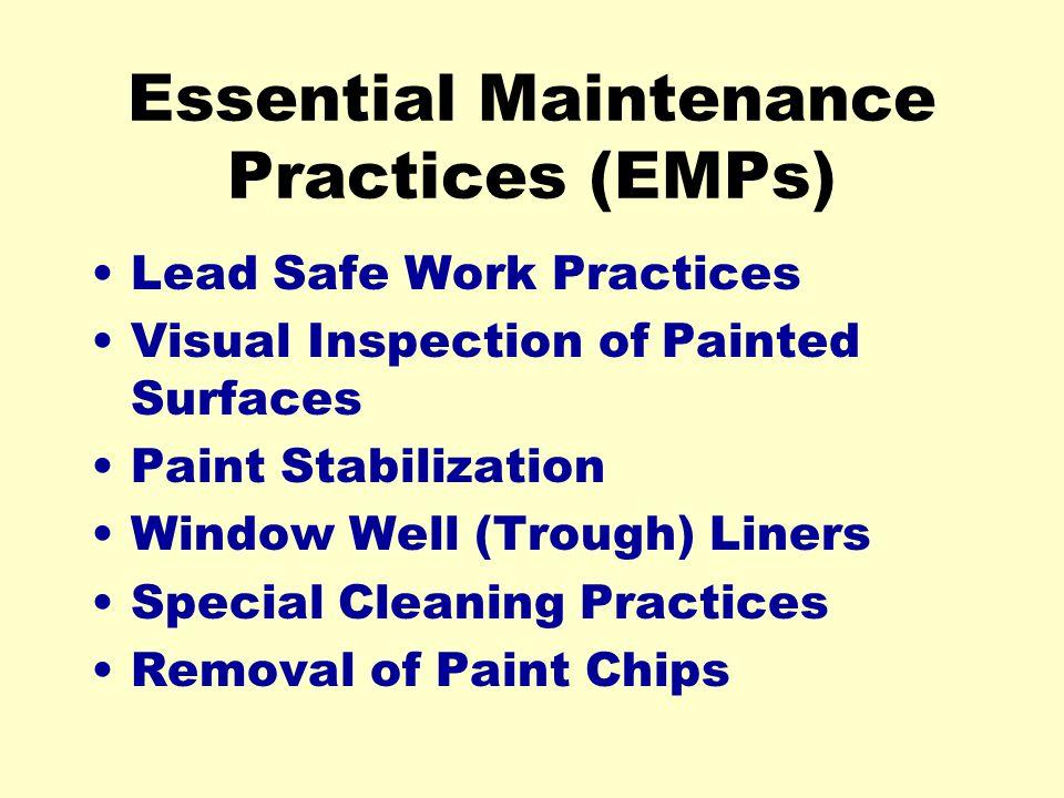 Essential Maintenance Practices (EMPs)