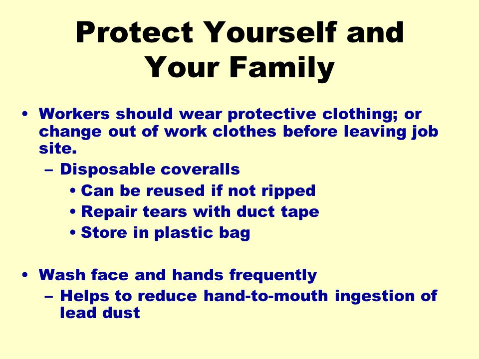 Protect Yourself and Your Family