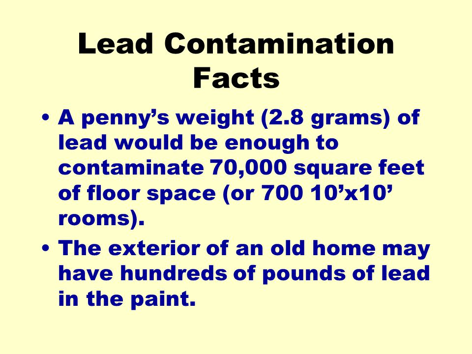 Lead Contamination Facts