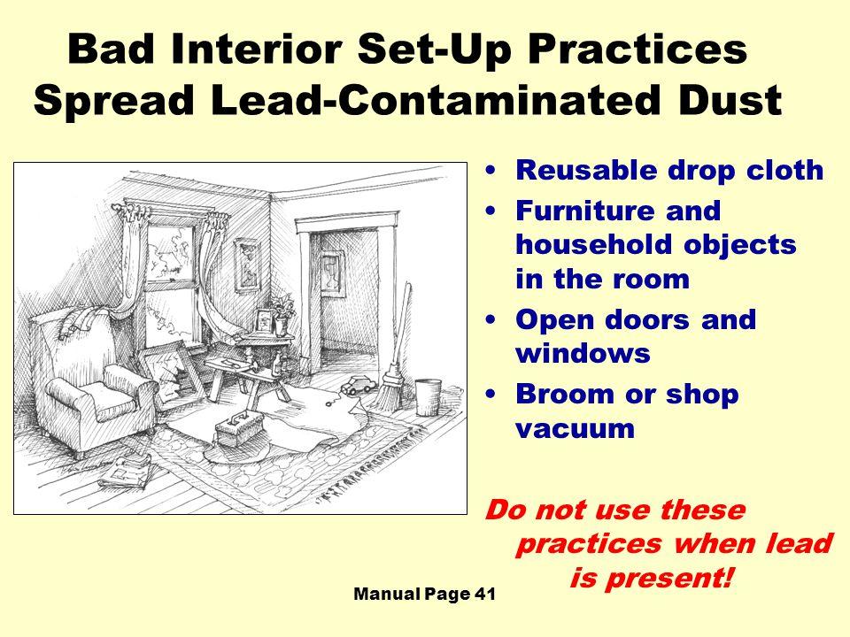 Bad Interior Set-Up Practices Spread Lead-Contaminated Dust
