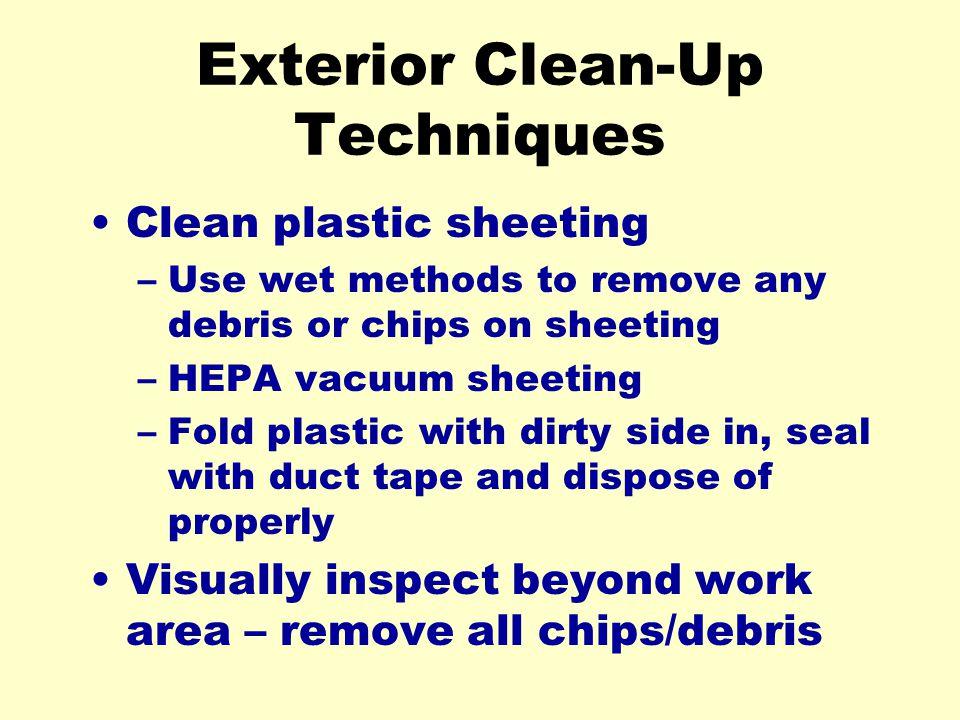 Exterior Clean-Up Techniques