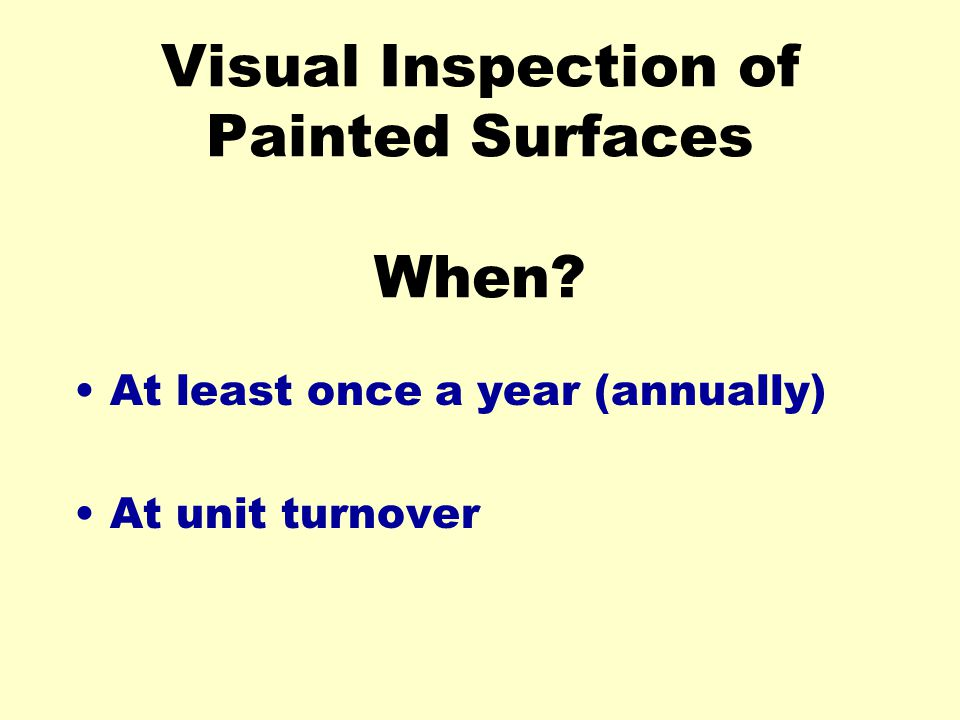 Visual Inspection of Painted Surfaces When