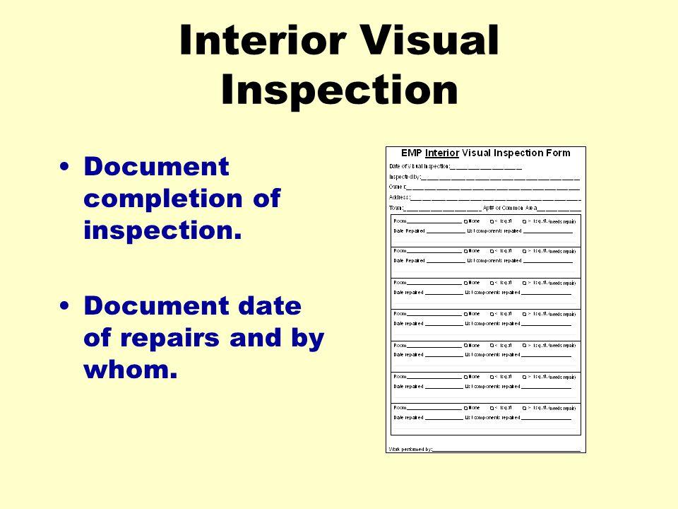 Interior Visual Inspection