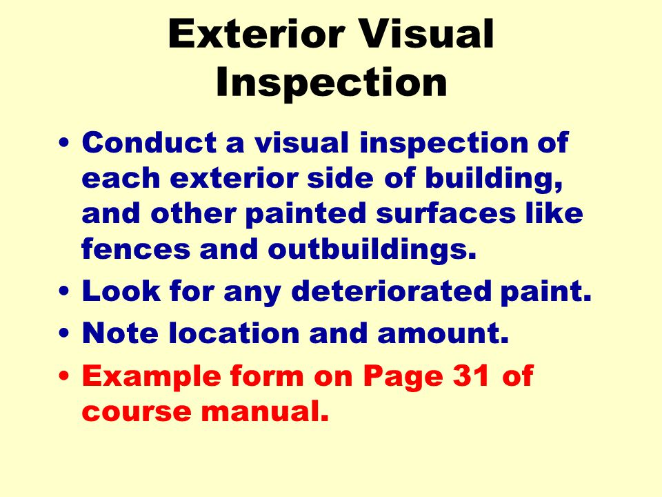 Exterior Visual Inspection